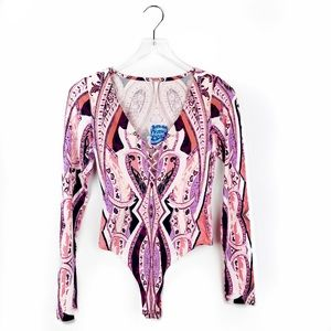 NEW❕Free People paisley bodysuit